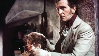 Peter Cushing in The Curse of Frankenstein