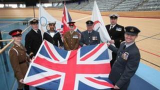 Service personnel chosen as flag bearers