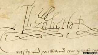 Elizabeth I's signature