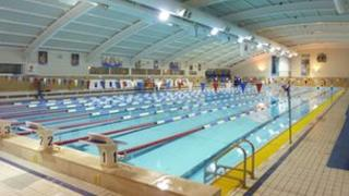The swimming pool at the University of Bath