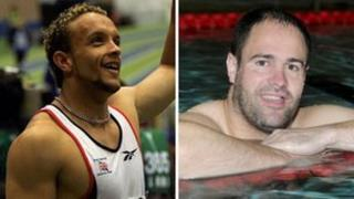Olympic sprinter Jamie Baulch and Paralympic swimmer David Roberts