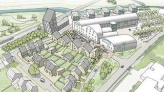Artist's impression of the Fisons development in Bramford