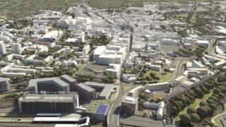 A 3D model of Northampton town centre