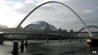 Sage Gateshead and Millennium Bridge
