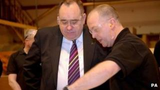 Alex Salmond visits Royal Strathclyde Blindcraft Industries