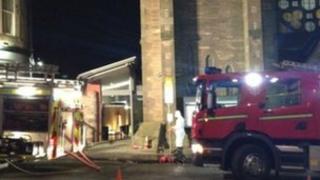 Fire crews at scene in Morningside