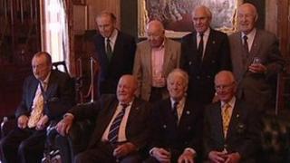 Surving members of 1948 Irish Olympic team