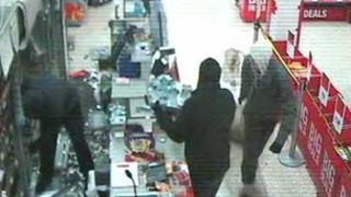 CCTV image of robbers stealing cigarettes from Fareham