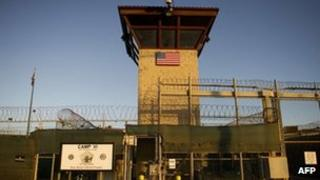 A prison gate at Guantanamo Bay, 19 January 2012