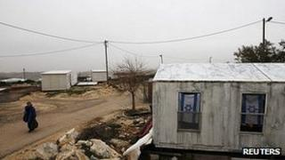 Temporary homes in the unauthorized Jewish outpost of Migron. File image