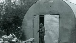 The men were shot close to farm outbuildings in Armagh