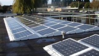 Solar panels at The Cherwell School