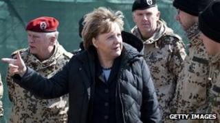 German Chancellor Angela Merkel in Afghanistan (12 Mar 2012)
