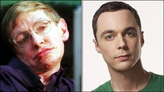 Professor Stephen Hawking and Jim Parsons
