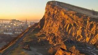 Salisbury crags Pic: The British Geological Survey