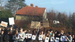 Larkmead school protest