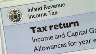 HMRC tax return form