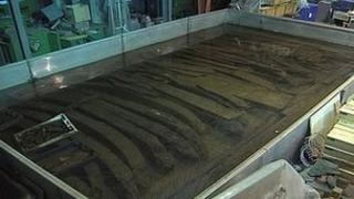 Timbers from the Asterix undergoing conservation work at the Mary Rose Trust