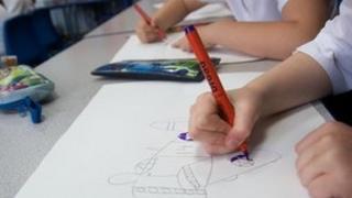 Pupils drawing