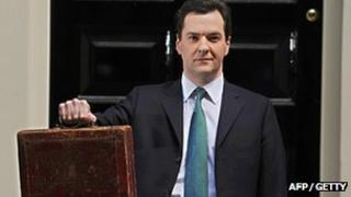 George Osborne and budget case in 2012