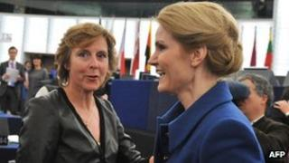 Danish women politicians in Strasbourg, 18 Jan 12