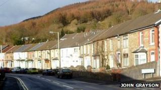 Street in Rhondda