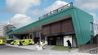 Artist impression of the new A&E Department at Aintree University Hospital