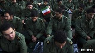 Members of Iran's Revolutionary Guard (file image)