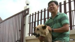 Sompong saw the seizure of dogs on Thai television