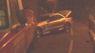 Car involved in crash on Mont Felard