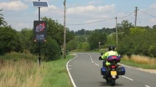Biker sign