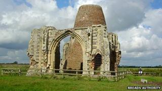 St Benet's medieval gatehouse and windmill