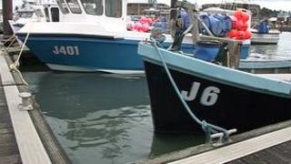 Boats at a Jersey harbour