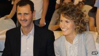 Syrian President Bashar al-Assad and Asma al-Assad in Damascus (5 Sept 2010)