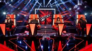 The Voice UK coaches on set