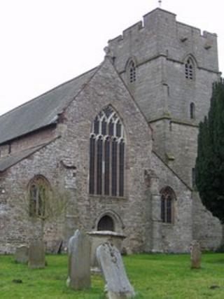 St Andrews Church in Presteigne