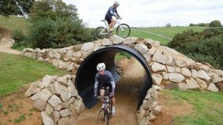 The Olympic mountain bike course at Hadleigh Farm
