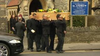 Kyle Rees' funeral