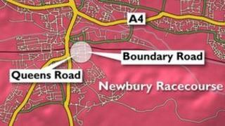 Newbury murder map