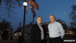 Peter Robinson and Martin McGuinness in Washington
