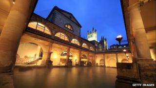 The Great Bath in the Roman Baths