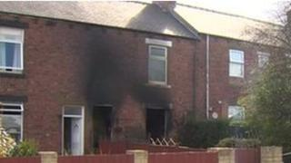 Scene of the fire in Quaking Houses