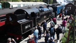 80116 and Sir Nigel Gresley at Goathland. Picture by Paul Taylor. Copyright: NYMR