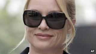 Nicollette Sheridan arrives at court in Los Angeles on 15 March 2012