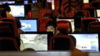 Internet cafe China