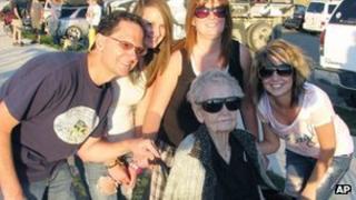 Mary Hardison with family