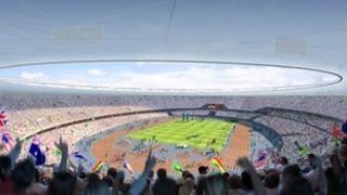 Mock-up of the Olympic stadium