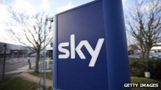 Sky sign outside west London HQ
