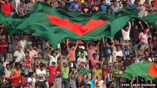 Cricket fans in Bangladesh