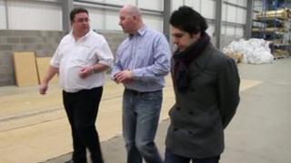 Moe Forouzan of Effect Blaenau Gwent meets a client